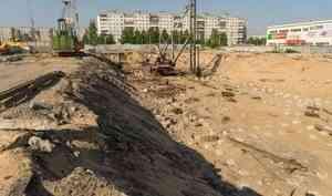 На ЖК «О`Берег» Группы «Аквилон» в Архангельске погружено больше половины свай