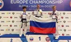 Архангелогородец взял два золота и серебро на чемпионате Европы по тхэквондо
