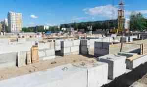 На ЖК «Морепарк» Группы «Аквилон» в Северодвинске началось возведение 1-го этажа