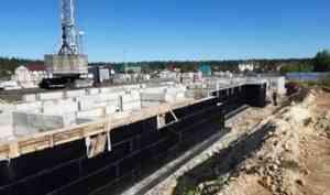 В Плесецке продолжается строительство социальной многоэтажки