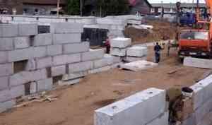 В Мезени в разгаре строительство нового корпуса центральной районной больницы