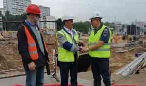 Представители МЧС России осмотрели ход строительства станции «Давыдково», посвященной МЧС России