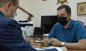Александр Цыбульский обсудил перспективы развития Вельского района с новым главой муниципалитета