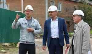 Владимир Полежаев потребовал ускорить строительство социальных объектов в Новодвинске