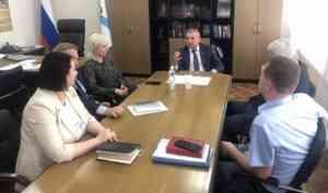 Заместитель губернатора Архангельской области Ваге Петросян провел рабочую встречу с главой Котласа Светланой Дейнеко
