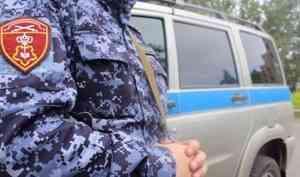 В Архангельске сотрудники Росгвардии задержали подозреваемого в краже алкоголя