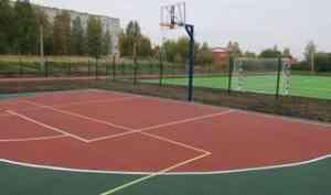 Самый большой в Приморском районе: новый школьный стадион появился в Архангельской области