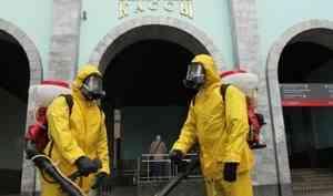 Специалисты Центра «Лидер» МЧС России провели дезинфекцию Белорусского вокзала