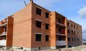 В Каргополе продолжается строительство дома для переселенцев из аварийного жилфонда