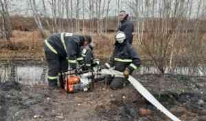 В районе торфяного пожара будет сформирован дополнительный искусственный водоем