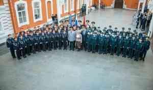 Статс-секретарь – заместитель главы МЧС России Алексей Серко  в Санкт-Петербурге принял участие в церемонии посвящения школьников  в пожарные кадеты