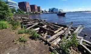 В Архангельске приведут в порядок территорию набережной в районе улицы Поморской