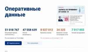 На портале «Стопкоронавирус.рф» запущен счетчик вакцинации от COVID-19