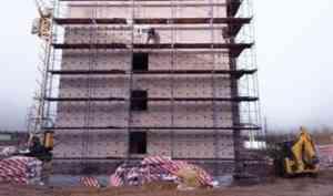 Строительство социальной пятиэтажки в Плесецке будет завершено к началу 2022 года