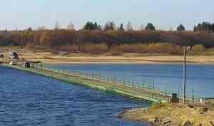 В Шенкурском районе временно закрыт проезд по понтонному мосту через Вагу