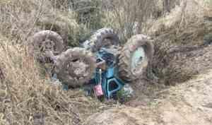 В Котласском районе двое мужчин погибли в угнанном ими тракторе
