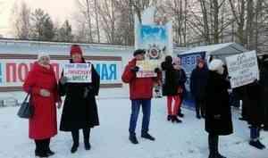 «Это моё болото!»: в Северодвинске прошел массовый пикет за отставку губернатора Поморья