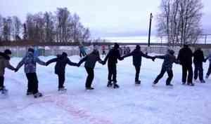 В Мезени состоялось открытие главного городского ледового катка