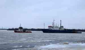 Судно сейсморазведки «Академик Шатский» пришло в Архангельск для утилизации