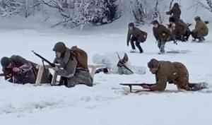 Прорыв блокады Ленинграда воссоздали в Приморском районе