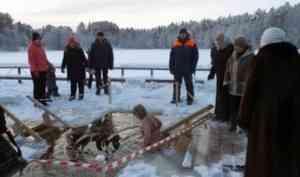 В крещенские иордани в Архангельской области окунулись порядка 8 тысяч человек