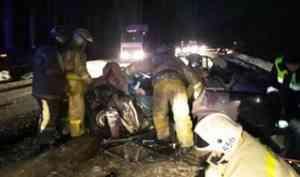 Под Котласом столкнулись три автомобиля «Лада»