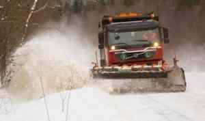 На дорогах Архангельской области – сложные условия из-за непогоды