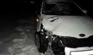 Водитель «Киа» насмерть сбил пешехода на трассе в Архангельской области