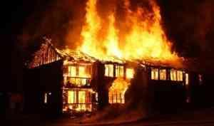 Житель Двинского Березника погиб при пожаре в своём доме