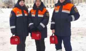 Студенты-добровольцы отряда «Помор-Спас» обеспечивали безопасность вДень зимних забав САФУ