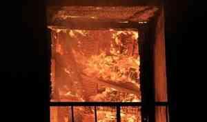 В посёлке Уйма горела квартира в пятиэтажке