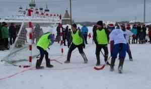 «Соловецкие сполохи»: шесть команд выявляли лучших в хоккее на валенках