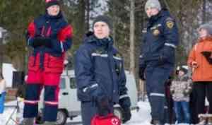 Отряд «Помор-Спас» принял участие вобеспечении безопасности намасленичных гуляньяхв«Малых Корелах»
