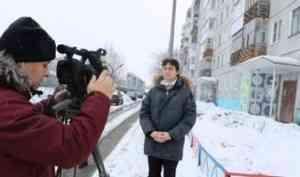 Первый канал готовит сюжет о реализации в Поморье программы по замене лифтов