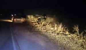 В Устьянском районе водитель легковушки погиб в результате съезда в кювет