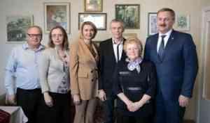 Почетный гражданин Архангельска Татьяна Подьякова принимает юбилейные поздравления