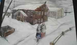 Дети из художественной школы нарисовали для музея Верколы диафильм по рассказу Абрамова