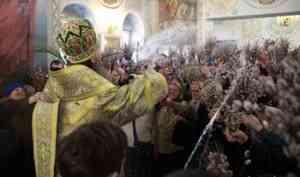 Митрополит Даниил освятил вербы накануне праздника Входа Господня в Иерусалим