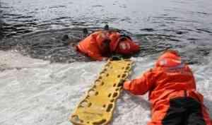Пожарные провели учения по спасению на ослабленном льду