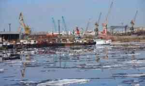 Утром разрушился затор льда на Северной Двине ниже деревни Сидоровская