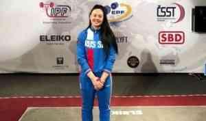 Северодвинка заняла четвертое место на чемпионате Европы по пауэрлифтингу