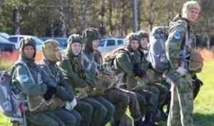 «Юнармейский десант» из Архангельска устроил импровизированный бой в небе над Вологдой